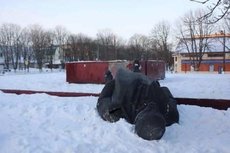 Фастов снос памятника Ленину