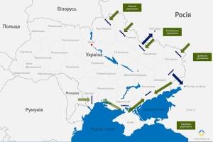 карта захвата Украины